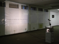 - Installation view of spatial treatment