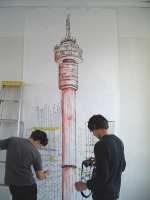 - Large formate drawing with Mike and Zander
